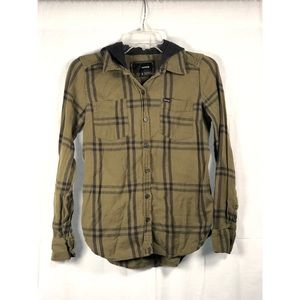 Hurley Hooded Button Up Flannel